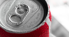 Water drop on soda cans Royalty Free Stock Photography