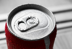 Water drop on soda cans Royalty Free Stock Images