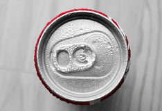 Water drop on soda cans Royalty Free Stock Photo
