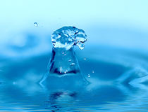 Water drop. Soft colors. Stock Photography