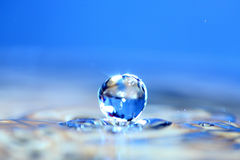 Water drop. Soft colors. Stock Image