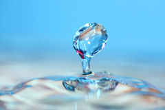 Water drop. Soft colors. Royalty Free Stock Photo