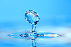 Water drop. Soft colors. Royalty Free Stock Photography