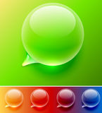 Water drop speech balloon Stock Photo