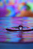 Water drop and splash. Colorful red, yellow, pink and blue water drop and splash Royalty Free Stock Images