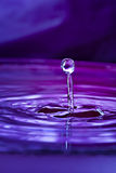 Water drop and splash Stock Image