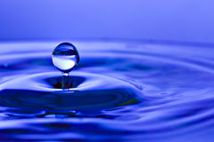 Water drop and splash Stock Images