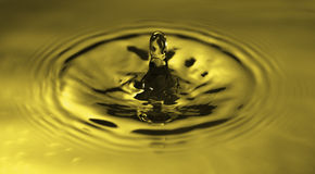 Water drop splash. Royalty Free Stock Images