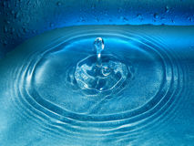 Water drop and splash Royalty Free Stock Images