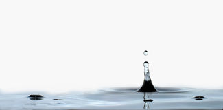 Water drop and splash Stock Photography