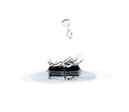Water drop and splash Stock Image