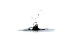 Water drop and splash Royalty Free Stock Photography