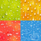 Water Drop Square Banner Set Stock Photography