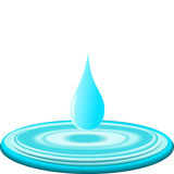 Water drop. vector Royalty Free Stock Image