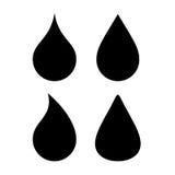 Water drop vector silhouette icon Vector Illustration