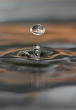 Water drop and water rings Royalty Free Stock Images