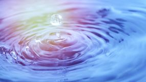 Water drop, wave and splash. In soft light Stock Photos