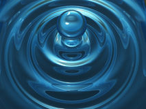 Water droplet. 3d rendered image of water droplet Stock Photo