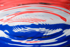 Water droplet against a Dutch flag Stock Photo