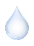 Water Droplet. A drop of water isolated on white background with clipping path Stock Photos