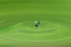 water droplet and the earth Royalty Free Stock Image