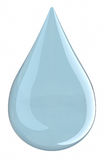 Water droplet (isolated) Royalty Free Stock Photos