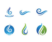Water droplet  logo template Stock Photography