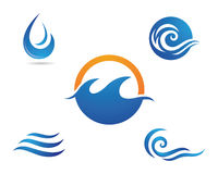 Water droplet  logo template Royalty Free Stock Images