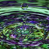 Iridescent transparent ripple splash Stock Image