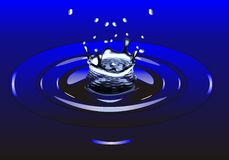 Water droplet splash Royalty Free Stock Photography