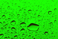 Water Droplets. On a metal Surface royalty free stock photography