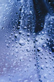Water droplets. Details of water droplets on glass Royalty Free Stock Photography