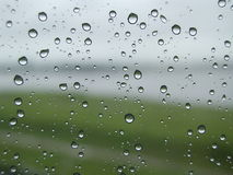 Water droplets. Droplets on window after rain stock image