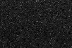 Water droplets on black Royalty Free Stock Photos