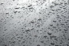 Water Droplets on a car Royalty Free Stock Photography