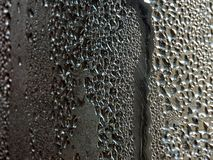 Water droplets caught by the cold storage royalty free stock images
