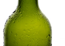 Water droplets on chilled wine bottle Royalty Free Stock Photos