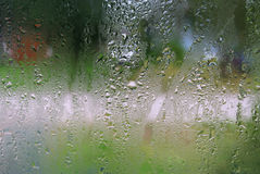 Water droplets on glass Royalty Free Stock Photo