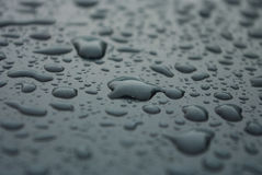 Water droplets on glass Stock Photos