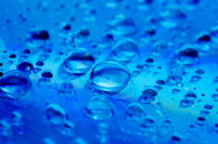 Water droplets on glass. Raindrops Royalty Free Stock Image