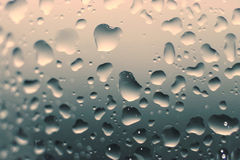 Water droplets on a glass Stock Photos