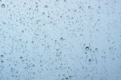 Water droplets on glass. Water droplets on the glass while it was raining Royalty Free Stock Photos