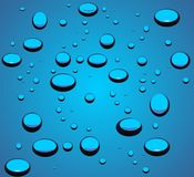 Water droplets illustration Royalty Free Stock Image