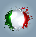 Water droplets with a Italy flag Royalty Free Stock Photography