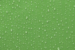 Water Droplets on Metallic Surface Royalty Free Stock Images