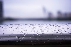 Free Water Droplets On The Fences Stock Photos - 130238683