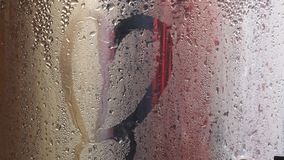 Water droplets that penetrate the tank royalty free stock photography