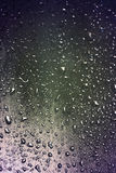 Water droplets at rainfall Stock Images