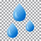 Water droplets on transparent background. Vector illustration royalty free illustration