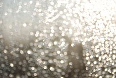 Water Droplets on a Window. Blurry Water Droplets on a Window background. De-focused intentionally Royalty Free Stock Photos